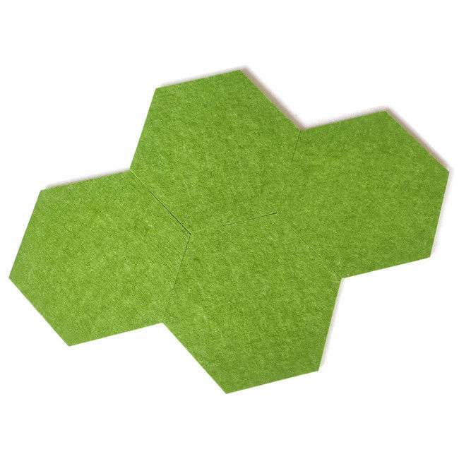Hexagon NRC 0.6 Diameter 300mm PET Felt Panels